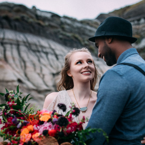 Colorful bohemian styled wedding inspiration - Drumheller